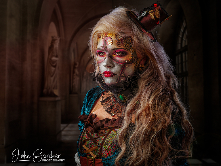 creative portrait photography steampunk shoot