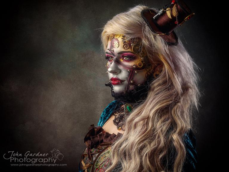 creative portrait photography steampunk shoot