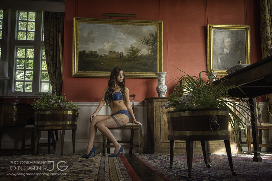 fashion photographer Wakefield in Burton Agnes Hall