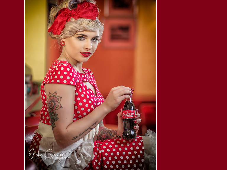 vintage diner shoot | fashion photographer Leeds
