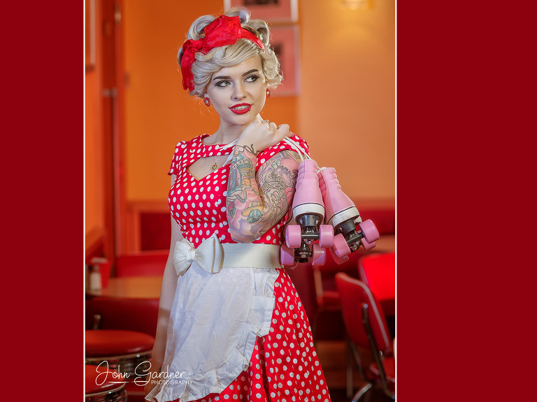 vintage diner shoot | fashion photographer Wakefield