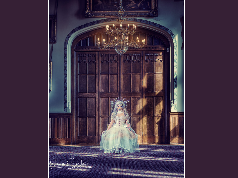 Commercial fashion & portrait photographer   fantasy shoot   Ice Queen
