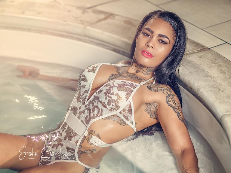 Wakefield fashion photographer | pool shoot