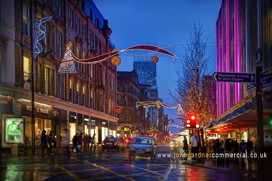 Christmas Lights ~ Deansgate, Manchester - John Gardner professional commercial & portrait ...