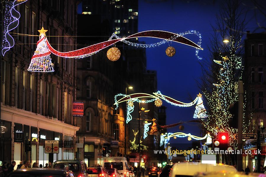 Christmas lights deansgate manchester john gardner commercial photographer wakefield commercial photographer aloadofball Choice Image