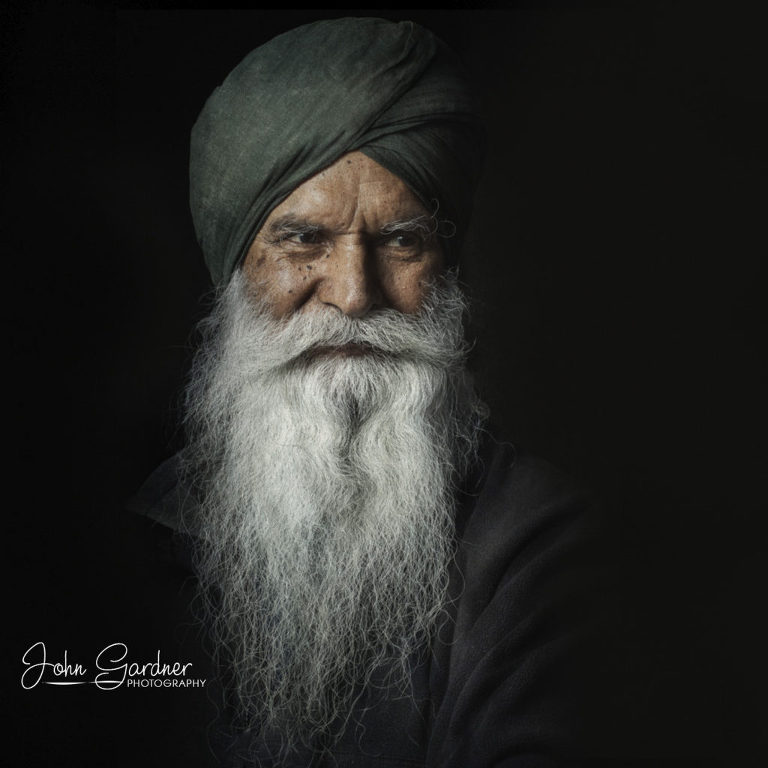 portrait of a Sikh elder